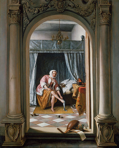 387px-Jan_Steen_-_Woman_at_her_Toilet_-_Google_Art_Project